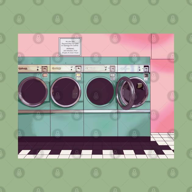Pastel laundromat