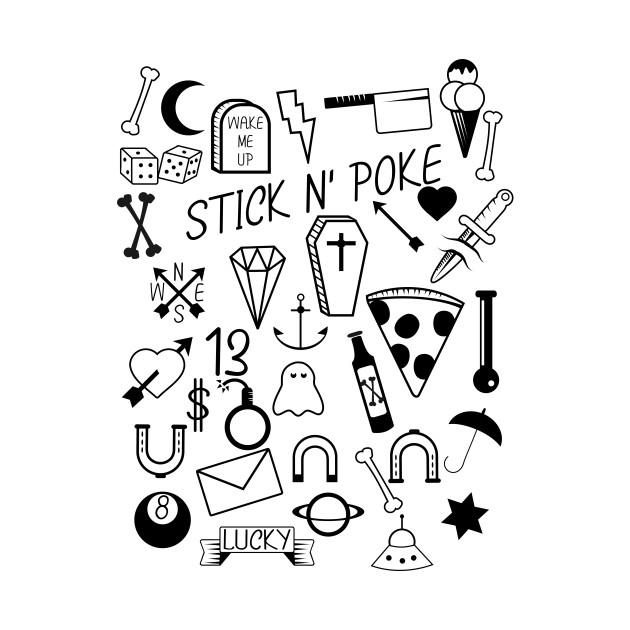 Stick n' Poke - Tattoo - T-Shirt   TeePublic