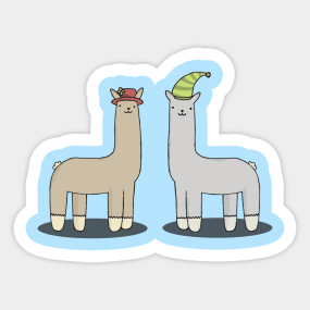 4a77a37e0d1 Llamas With Hats Stickers
