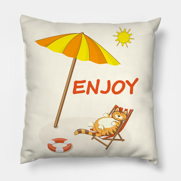 enjoy summer with funny cat