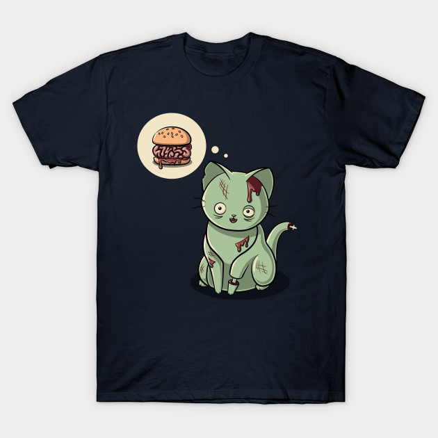 Zombie Cat Can Haz Brain Burger?