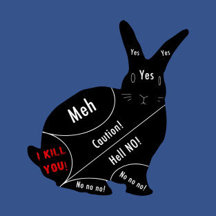The Official  Bunny Petting Chart t-shirts