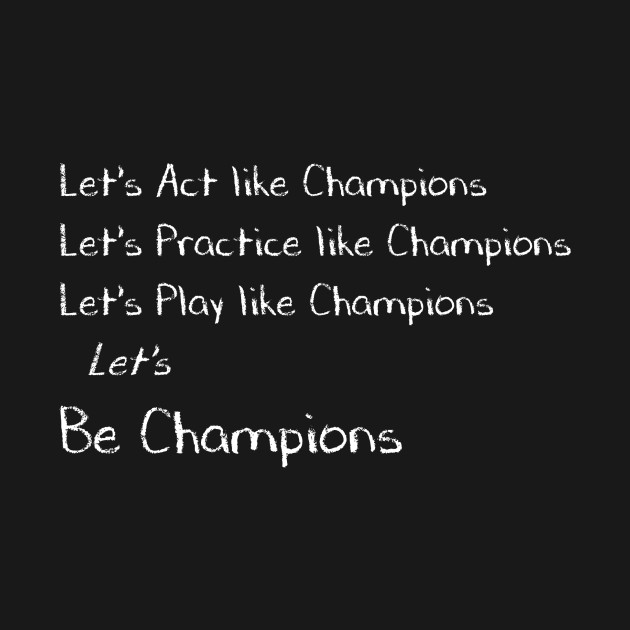 Let's Be Champions