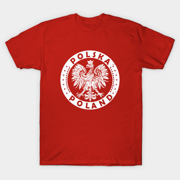 Red Boys Youth Graphic T Shirt Design By Humans Polish Flag Eagle