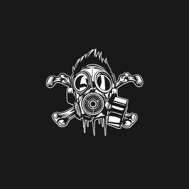 Scull and bones gas mask death and destruction design gas mask 2020876 0 voltagebd Image collections