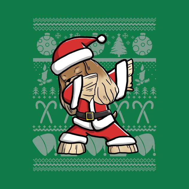 Dabbing Cocker Spaniel Ugly Christmas Sweater Graphic
