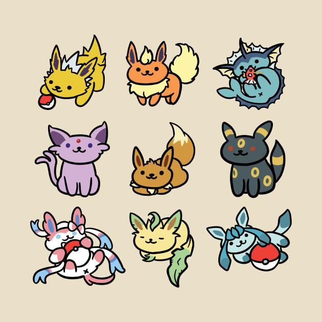 Eevee Atsume Pokemon Eeveelutions Neko Atsume