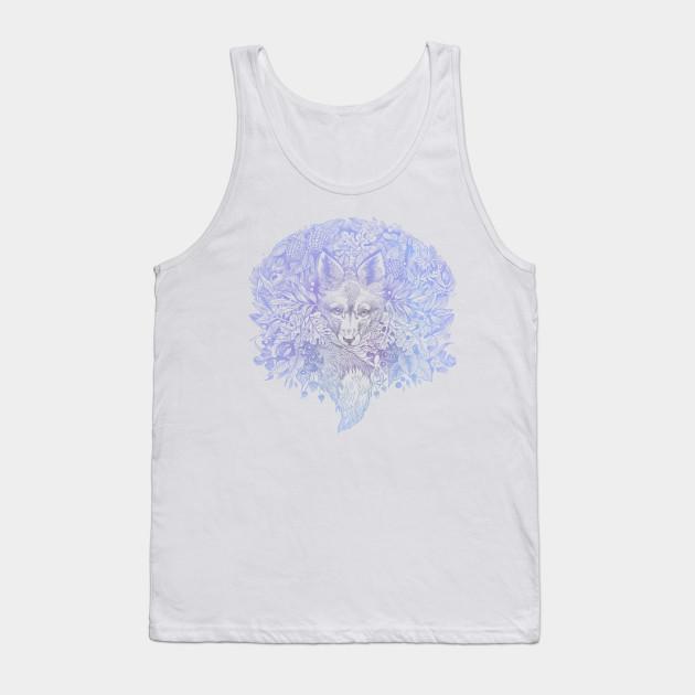 a048b2be7f4f3 Pastel purple blue hiding fox - Fox - Tank Top