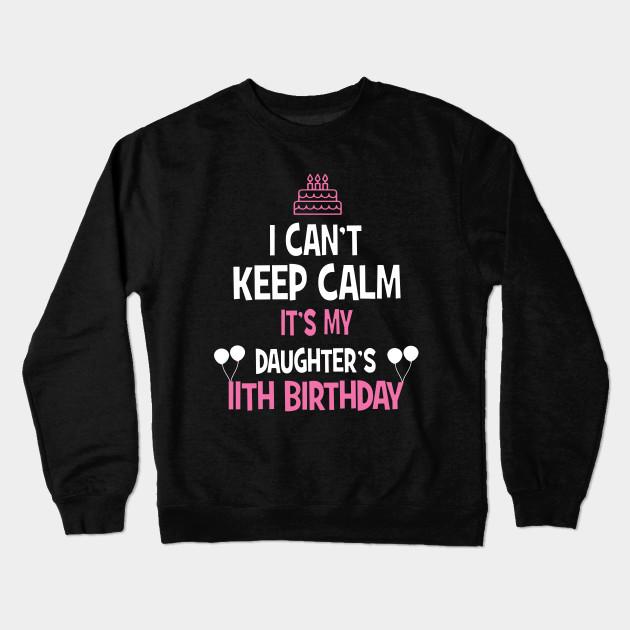 11th Birthday Girl T Shirt 11 Years Old Party Gift Crewneck Sweatshirt