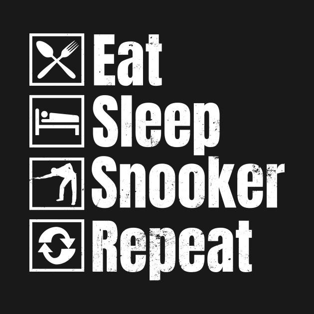 Snooker Shirt | Eat Sleep Snooker Repeat Gift