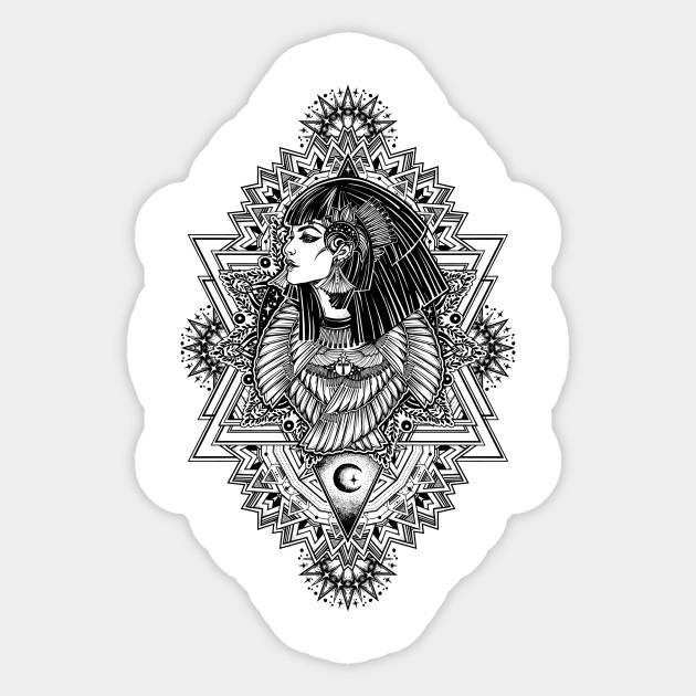 Isis Goddess Ancient Egypt Sticker Teepublic
