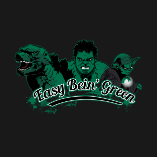 Easy Bein' Green t-shirts