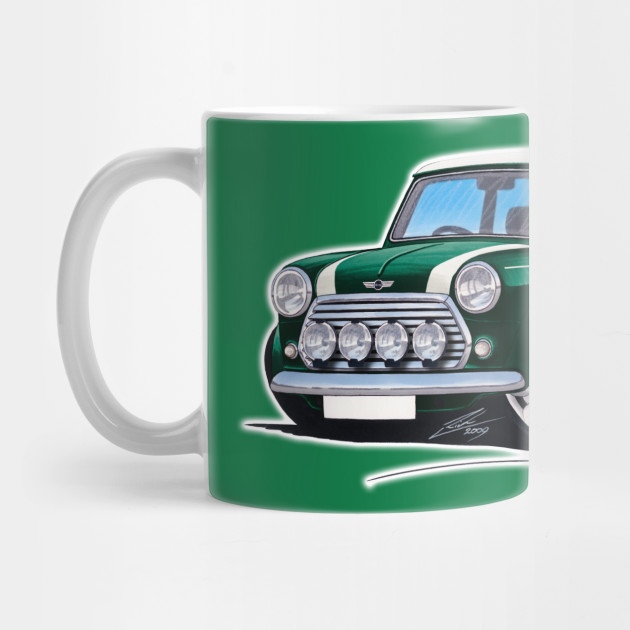 Rover Mini Cooper Sport British Racing Green - Mini Cooper - Mug ...