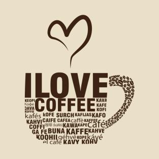 I Love Coffee t-shirts