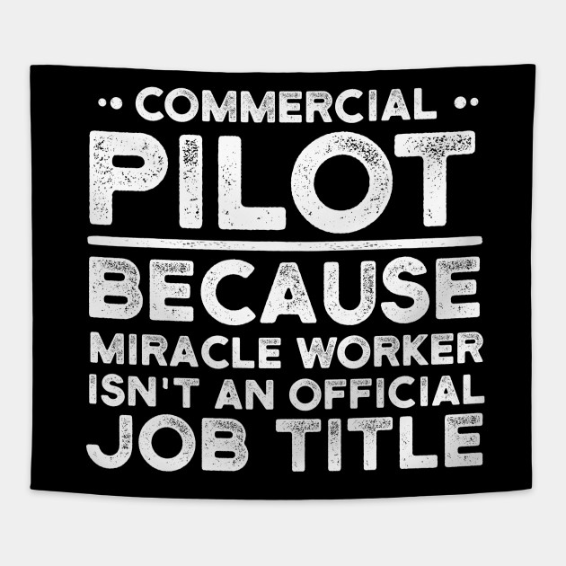 Commercial Pilot Because Miracle Worker Isn't An Official Job Title