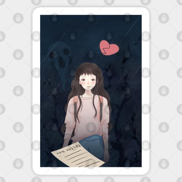 Sad Depressed Anime Girl Depressed Anime Girl Sticker Teepublic