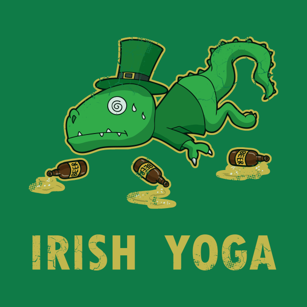 Irish Yoga T Rex St Patricks Day