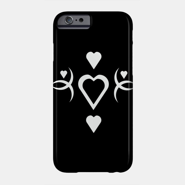 Pattern with white hearts, romantic, valentine's day Phone Case