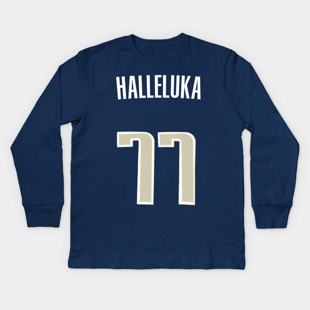 7db35042627 Luka Doncic  Halleluka  Nickname Jersey - Dallas Mavericks Kids Long Sleeve  T-Shirt