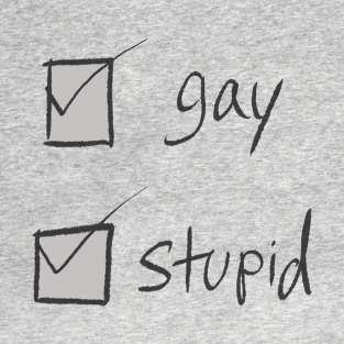 gay and stupid t-shirts