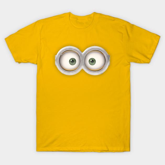 minion eyes minions t shirt teepublic. Black Bedroom Furniture Sets. Home Design Ideas
