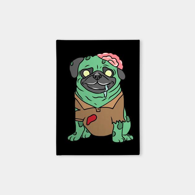 Zombie Pug T-Shirt Funny Dog Halloween Gift Pug Zombie Tee Mens Womens Pug Shirt Pug Halloween Zombie Pug Tee Funny Pug Shirt Halloween Pug Shirt Scary Dog Shirts