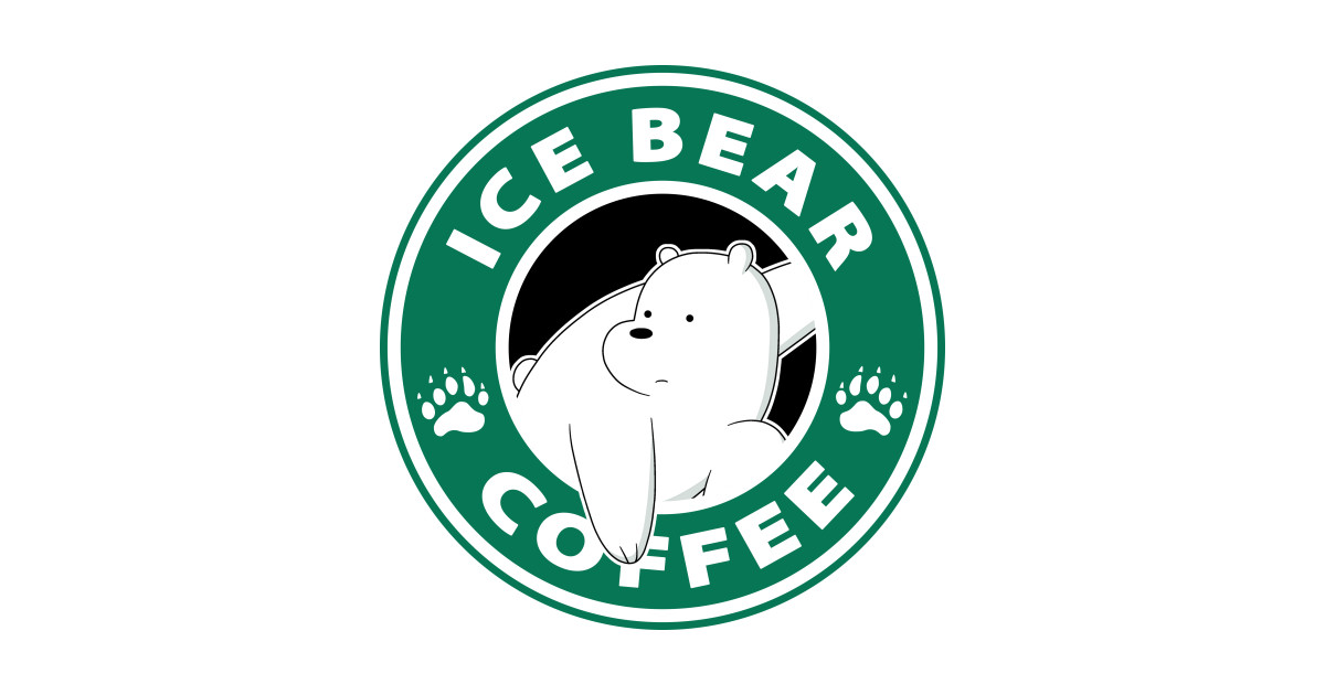 Ice Bear Coffee We Bare Bears Sticker Teepublic