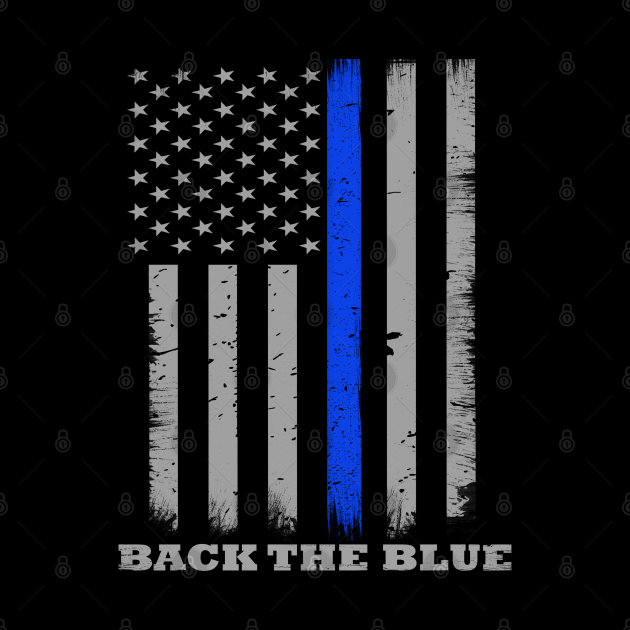 Back The Blue Thin Blue Line Flag
