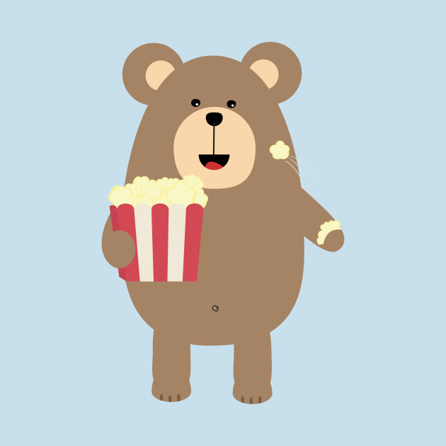 Image result for teddy bear popcorn