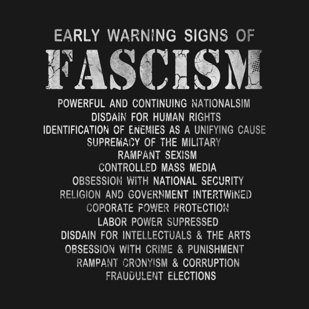 Early Signs Of Fascism >> Early Warning Signs Of Fascism Early Warning Signs Of Fascism