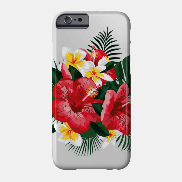 Tropical Flowers Hibiscus And Plumeria Flowers Phone Case