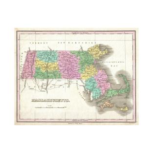 Massachusetts Map TShirts TeePublic