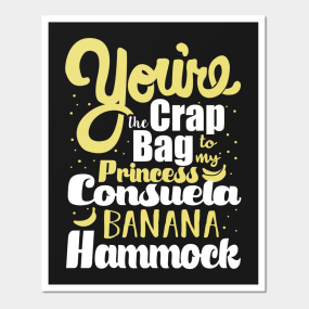 Friends Princess Consuela Banana Hammock Wall Art