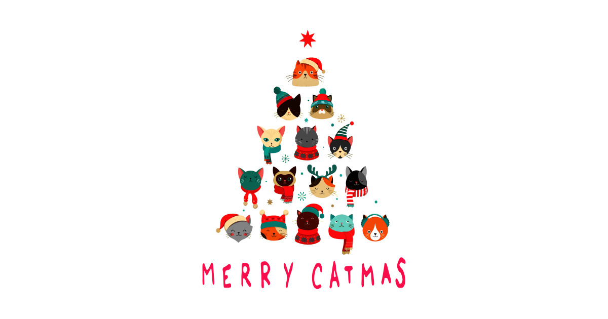 Merry Christmas 2019.Merry Catmas Merry Christmas 2019 Catmas Tree By Dannybuck