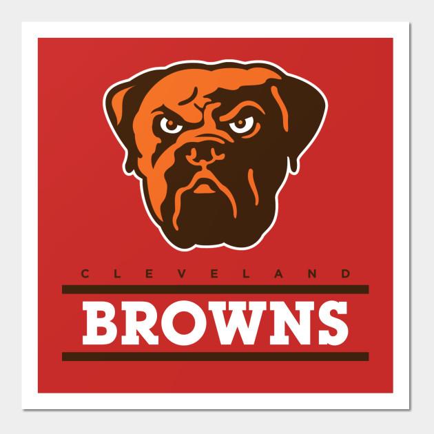 cleveland browns - Cleveland Browns - Wall Art | TeePublic