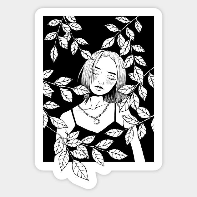 Anime Girl Anime Girl Aesthetic Tumblr Manga Calm Kavaii Sticker