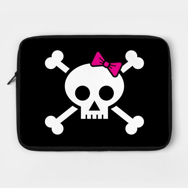 Skull /& Bones Bow In Pink