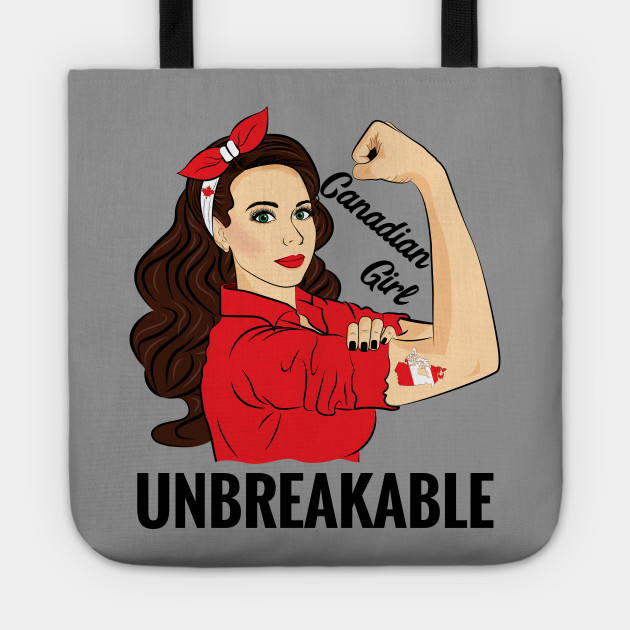 Canadian Flag Canada Girl Unbreakable