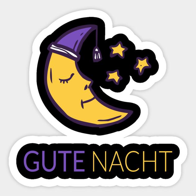 Good Night In German Moon With Stars Gute Nacht Pajama