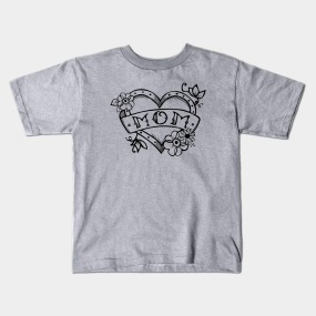 87ca26398 Tattoo Heart Kids T-Shirts | TeePublic