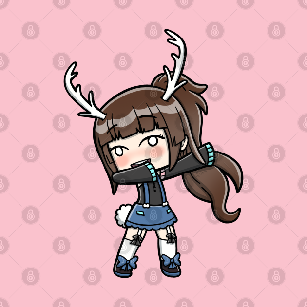 Brown Haired Gacha Girl Dabbing