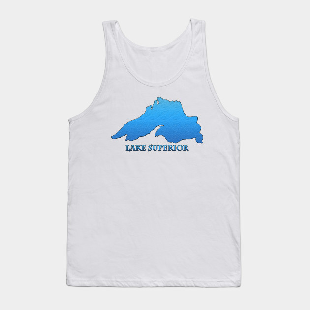c1457cb84b54 Great Lakes Lake Superior Outline Tank Top