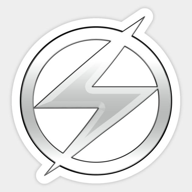Wally West Rebirth Silver Chrome Lightning Bolt Logo Cosplay by  pissandvinegar