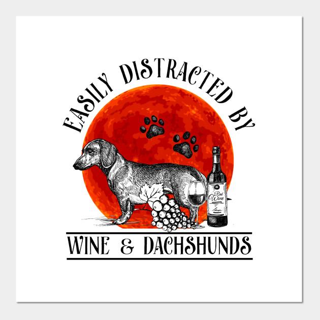Vintage English Print Dachshund Dog Puppy Puppies Art Vintage Poster Picture