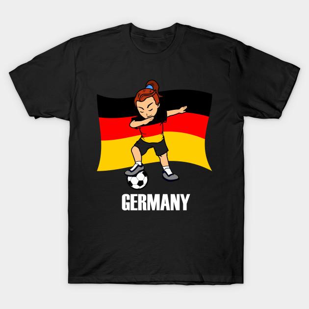 finest selection ab891 21e69 Dabbing Soccer Girl Germany Soccer Jersey German Flag