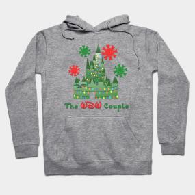 the wdw couple christmas logo hoodie