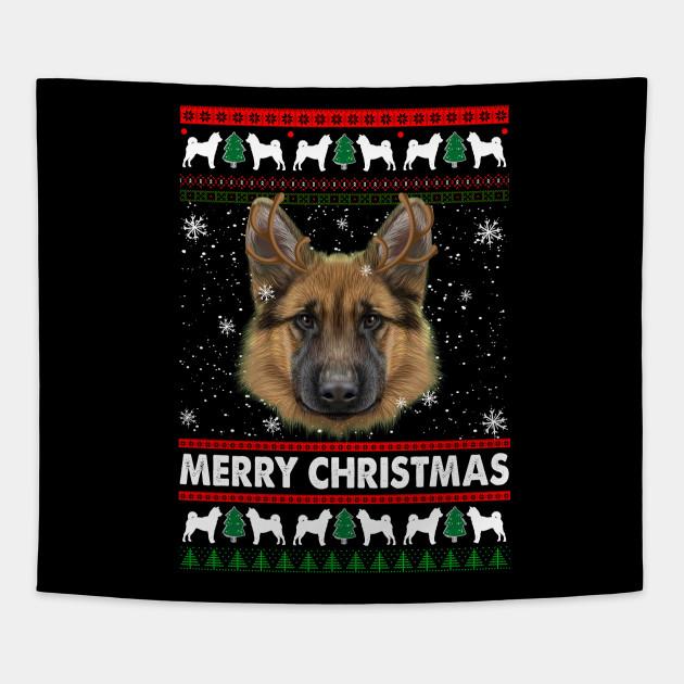 German Shepherd Christmas Sweater.German Shepherd Ugly Christmas Sweater Funny Christmas Tshirt Gifts