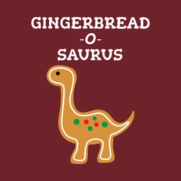 Christmas Dinosaur.Cute Gingerbread Cookie Christmas Dinosaur