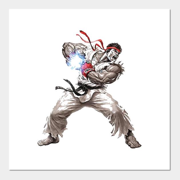 Ryu Street Fighter Posters And Art Prints Teepublic Uk