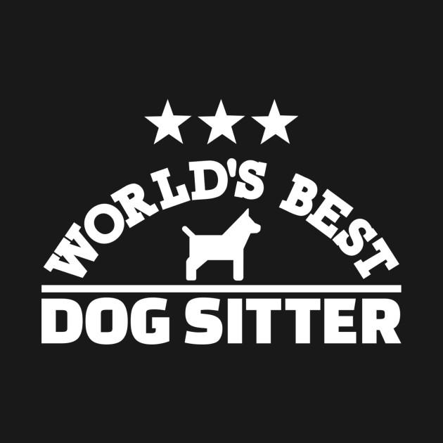 Worlds Best Dogsitter Black Kids Sweatshirt